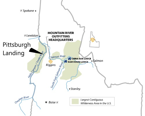 hells canyon map of pittsburgh landing